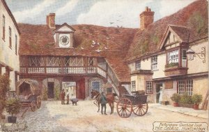 A.R.Quinton. Picturesque Coaching Inns. The George. Huntingdon Tuck Oilette PC