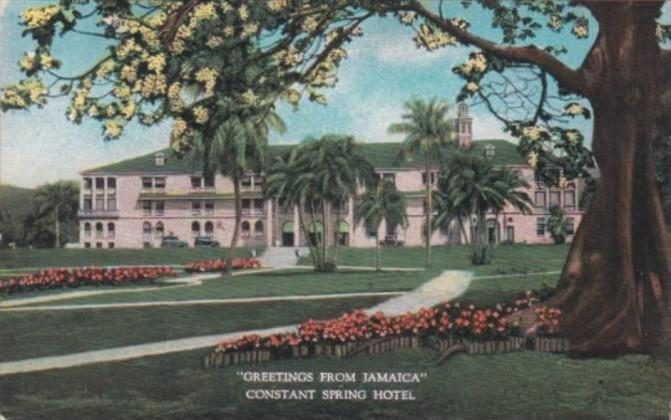Jamaica Greetings From Showing Constant Spring Hotel