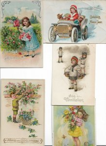 Happy Birthday Happy Kids with Flowers and more Postcard Lot of 9 01.13