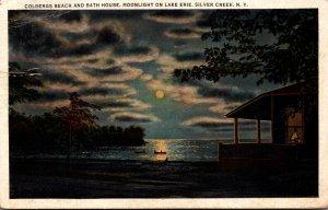 New York Adirondacks Silver Creek Colbergs Beach and Bath House 1934
