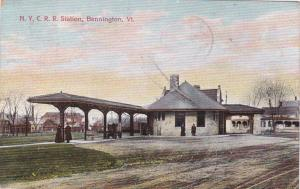 N.Y.C. Railroad Train Station, Bennington, Vermont, PU-1908