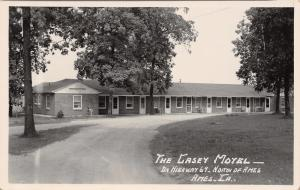 Ames Iowa~The Casey Motel~Roadside Highway 69~1950s Real Photo Postcard~RPPC