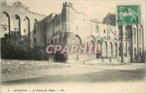 Old Postcard Avignon The Popes' Palace