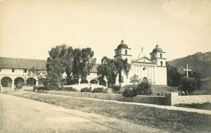 Anderson C-1910 Santa Barbara California Mission RPPC Photo Postcard 20-7135