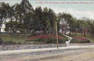 The Hill School From East Entrance Pottstown Pennsylvania 1909