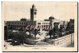 Oran Algeria Postcard Old Train Station