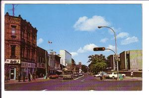 Grafton Street, Charlottetown, Prince Edward Island, Used with Message  1965?