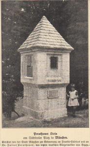 Germany Muenchen Perathoner Stein am Suedtiroler Platz