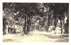 Standish IL Eddy Street View in 1949 RPPC Postcard