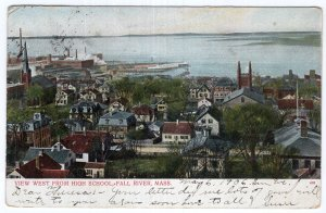Fall River, Mass, View West From High School