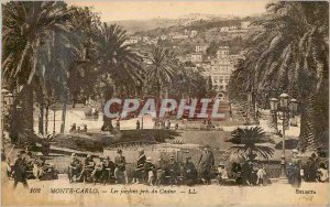 Old Postcard MONTE CARLO � The gardens took Casino