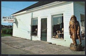 Quebec ~ Bois Sculpte Artisanat PERCE Wood Sculpures - Chrome 1950s-1970s