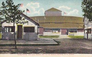 Candy Stands Belt Line Station and Old Bostock Building At Pt Gratiot  New York
