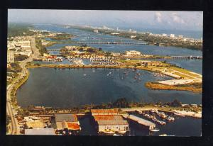 Daytona Beach, Florida/FL Postcard, Aerial View Boat Works/Basin/Yacht Club
