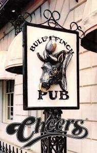 Boston MA~Bull & Finch Pub~Inspiration for Cheers Television Series 1987