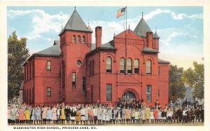 D94/ Princess Anne Maryland Md Postcard c1910 Washington High School Students