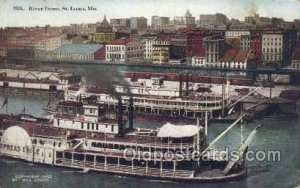 River Front Ferry Boats, Ship 1916 big crease right top corner