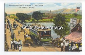 ft1644 - International Bridge between El Paso Texas & Juarez  NM, USA - postcard
