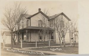 RP: GLEN IRON , Pa. , 1916 ; Mrs Agnes Yargets Residence