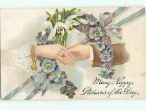 Divided-Back BEAUTIFUL FLOWERS SCENE Great Postcard AA2188