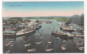 Steamers Victoria Harbor British Columbia Canada 1916 postcard