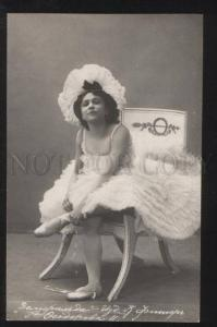 101929 FEDOROVA Russian BALLET Star as DOLLY vintage PHOTO PC