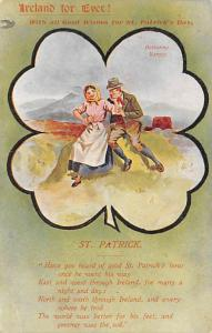 Ireland Forever St. Patrick's Day Postcard writing on back