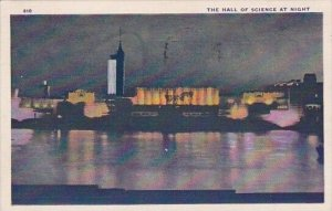 The Hall Of Science At Night Chicago World's Fair 1933-34 1933