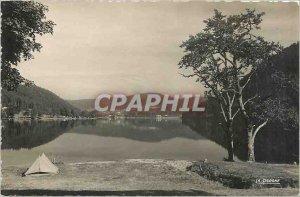 Postcard Modern Lake Longemer Vosges Camping