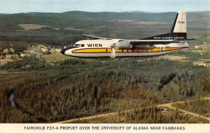 Fairchild F 27 – a proper jet over the University of Alaska near Fairb...
