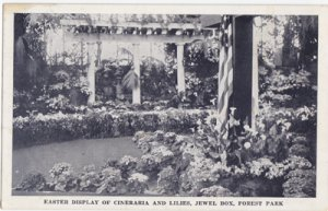 St Louis MO - Easter floral display at the JEWEL BOX in FOREST PARK, 1930s
