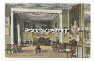 h1546 - Isle of Wight - The Drawing Room of Osborne House, East Cowes - Postcard