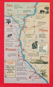 MAP: Mississippi River , Illinois-Missouri , 1950-60s