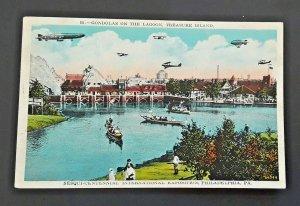 Mint Vintage Philadelphia PA Sesquicentennial Intl Expo Treasure Island Postcard