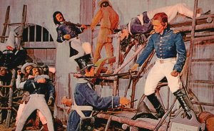 San Antonio, TX, Davey Crockett at the Alamo, Chrome Vintage Postcard g9067