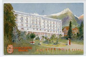 Palast Hotel Meran Merano Italy postcard