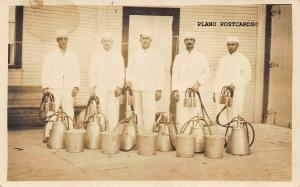 EARLY 1900'S DAIRY WORKERS , RPPC REAL PHOTO POSTCARD