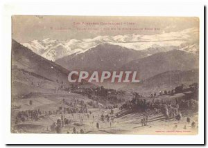 Old Postcard Luchon Vallee d & # 39Oueil View Haute Chaine Frontiere
