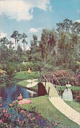 Florida Cypress Gardens Ante Bellum Beauty In Cypress Gardens 1957