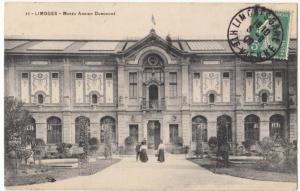 France, LIMOGES, Musee Adrien Dubouche, 1909 used Postcard CPA