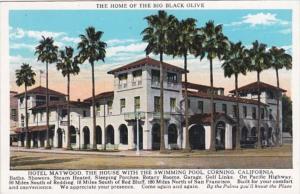 California Corning Hotel Maywood Curteich