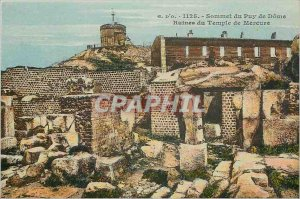 Old Postcard Summit of the Puy de Dome Mercury Temple Ruins