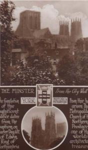 Yorkshire York Minster Edwin King Of Northumbria History Real Photo Postcard