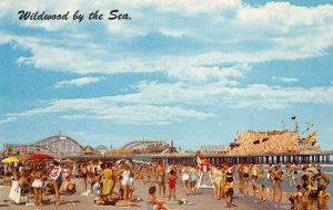 LPN91 Wildwoods by the Sea New Jersey Postcard Hunts Pier Beach