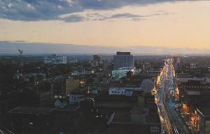 Sunset Over Jasper Avenue, Edmonton, Alberta, Canada, 40-60´s