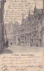 Belgium Bruges Quai des Menetriers 1903