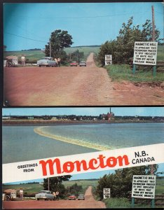 (2)  New Brunswick MONCTON SplitView Tidal Bore/Magnetic Hill Magnetic Hill - C