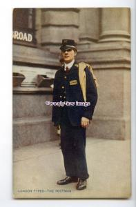 su3321 - Early Postman in Uniform - postcard London Types by Celesque