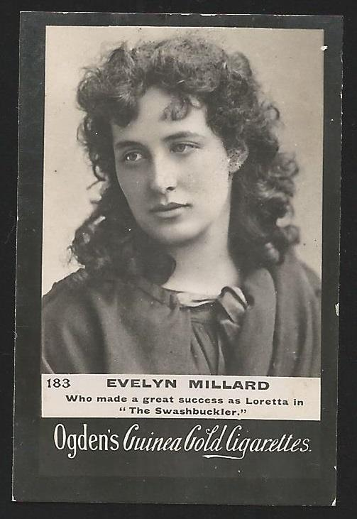 Ogden's Guinea Gold EVELYN MILLARD Cigarettes Card. Usual Small faults