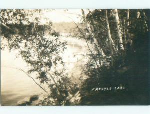 Pre-1949 rppc NICE VIEW Carlyle Lake Resort - Near Carlyle Saskatchewan SK W1032